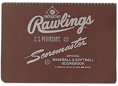 Rawlings Peterson's Baseball Scorebook
