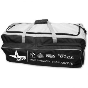 Allstar Pro Catcher Roller Team Equipment Bag BBPRO2RB vs. Mizuno MX Equipment Team Wheel Bag 360178