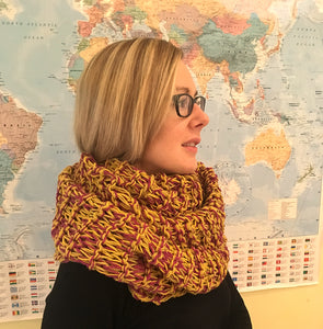 Hand Knitted Woman's Cowl