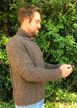 Load image into Gallery viewer, Man's Hand Knitted Pure Scottish Aran Wool Sweater