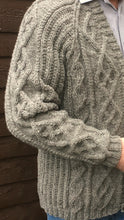 Load image into Gallery viewer, Man's Pure Scottish Aran Wool Cardigan