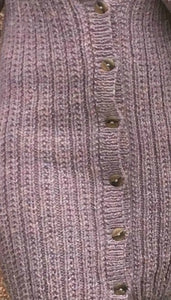 Woman's Hand Knitted Pure Wool Long Line Cardigan