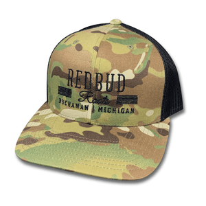 Redbud Roots Camo Trucker Hat