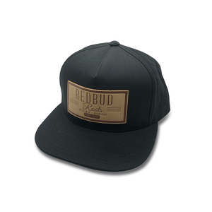 Redbud Roots Flat Brim Hat with Faux Leather Patch