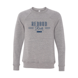 Redbud Roots Signature Crewneck Sweatshirt, Heather Grey
