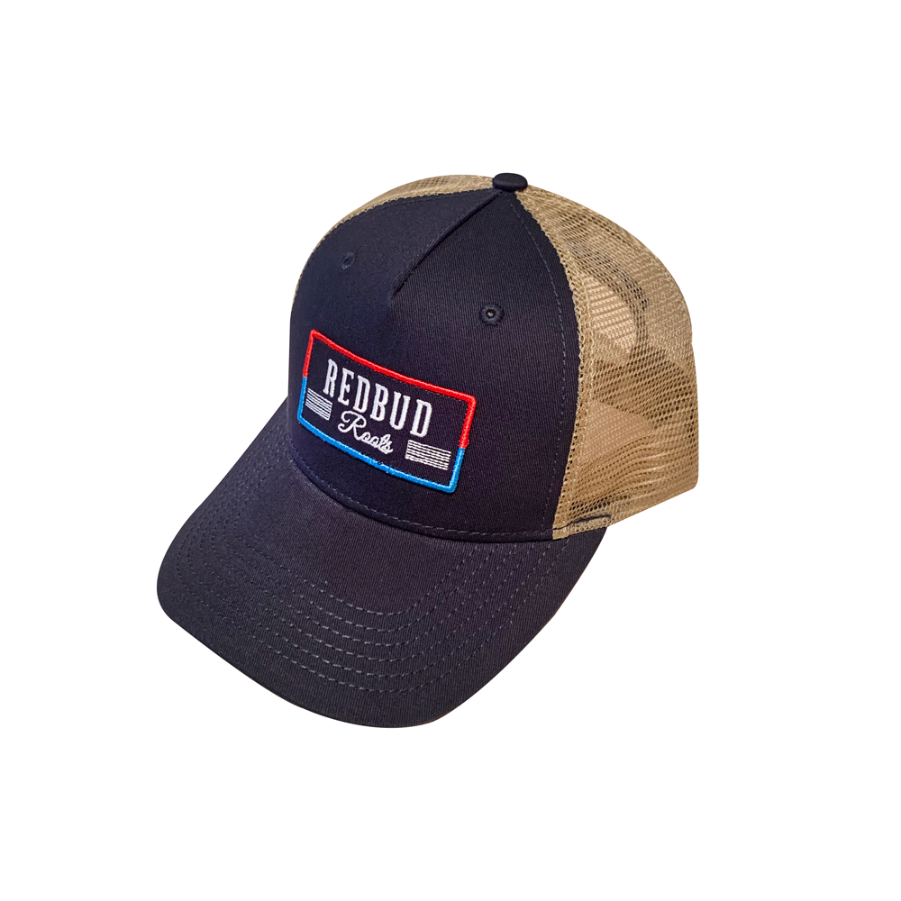 RBR Navy Embroidered Patch Trucker Hat