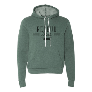 Redbud Roots Signature Fleece Pullover Hoodie, Heather Forest
