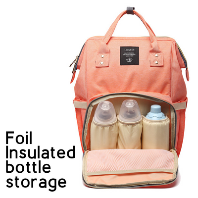 Waterproof Baby Changing Backpack with Insulated Bottle Storage and Nappy Kit