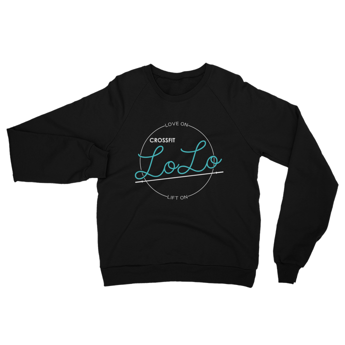 LoLo Crew Sweater - Unisex California Fleece Raglan Sweatshirt