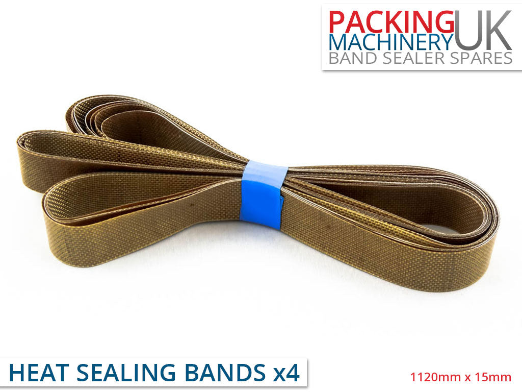 Teflon Heat Sealer Bands for Continuous Band Sealers - Pack of 4