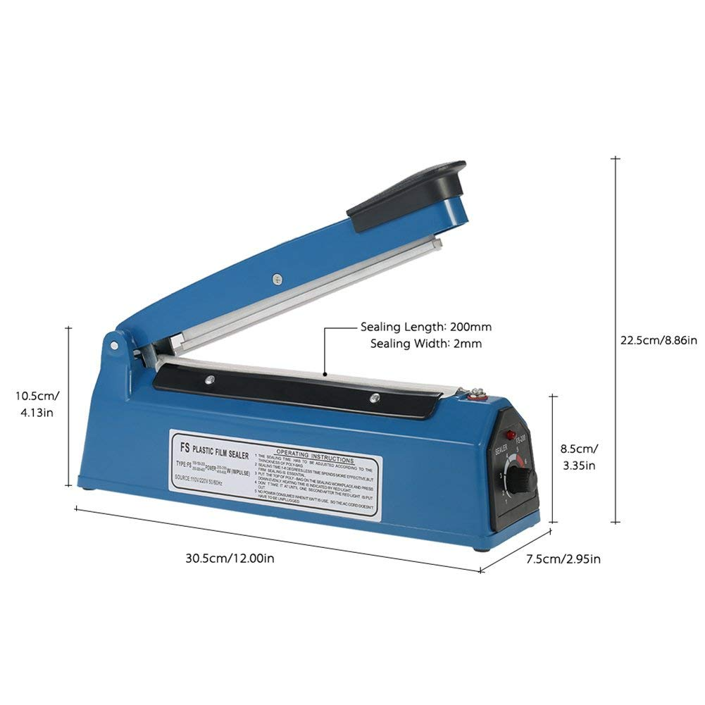 200mm Impulse Sealer for Thermoplastic Material