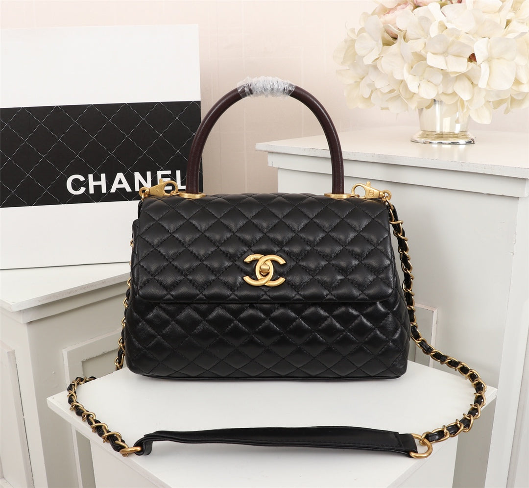 1cef93659ec9df ... Load image into Gallery viewer, Chanel coco handle bag Quilted Caviar -  LUXURYDESIGNERS ...