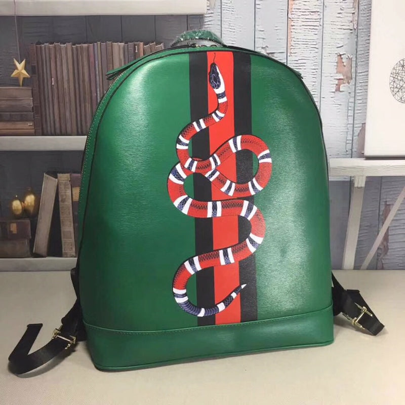 ccb9ba919232 Load image into Gallery viewer, Gucci Snake Print GG Supreme Backpack -  LUXURYDESIGNERS ...