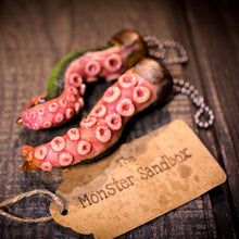 Load image into Gallery viewer, Lovecraftian Cthulhu Tentacle Keychain