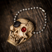 Load image into Gallery viewer, Retro Glowing Pirate Skull Keychain