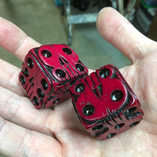 Load image into Gallery viewer, Oogie Boogie Dice - Red