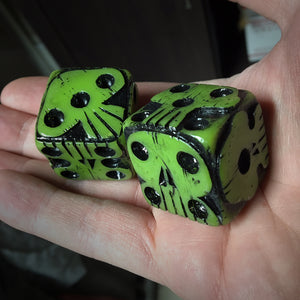 Oogie Boogie Dice - Glowy Green
