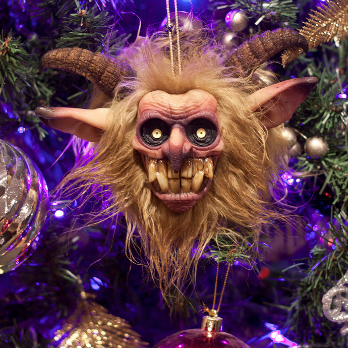 Krampus Ornament - Tan & Brown