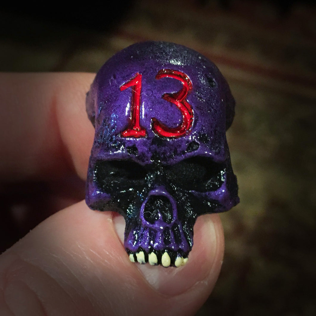 Skull Magnet - Metallic Purple - 13