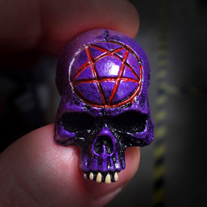 Skull Magnet - Purple - Pentagram