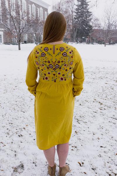 Jo Embroidered Dress