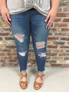 Ripped Skinny Jeans - Plus