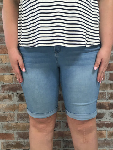 Curvy Girl High Waisted Shorts - Plus