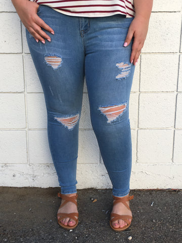 Curvy Girl Skinny Jeans - Plus
