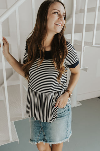 Leigh Striped Top