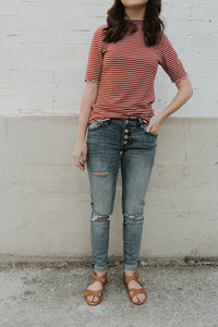 Kan Can Benny Mid Rise Girlfriend Fit Jeans
