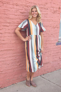 Stevie Striped Dress