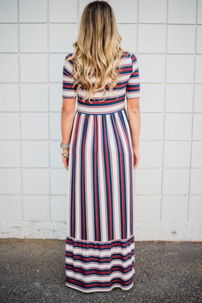 Striped Maxi With Pockets