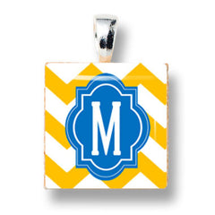 Chevron Yellow and Blue M