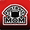 Football Mom - red