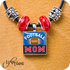 Football Mom - blue