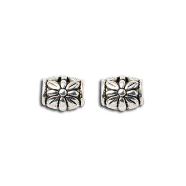 Metal Floral Beads (set of 2)