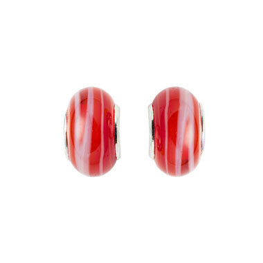 Glass Beads - Red (set of 2)