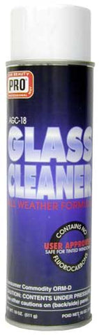 Pro Car Beauty AGC-18 Aerosol Glass Cleaner - 18oz - Parts Junkie