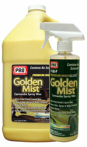 Pro Car Beauty P-80 Golden Mist Carnauba Spray Wax - Gallon - Parts Junkie