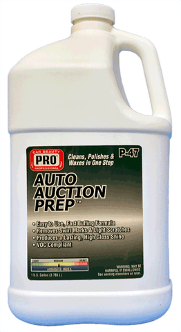 Pro Car Beauty P-47 Auto Auction Prep - Gallon - Parts Junkie