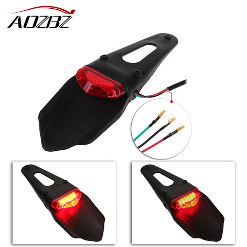 Motorcycle LED Taillight for Rear Fender - Parts Junkie