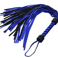 Black and Blue Suede Flogger - Fun and Kinky Sex Toys