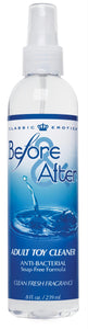 Before and After Anti-Bacterial Adult Toy Cleaner 8 fl oz - Fun and Kinky Sex Toys