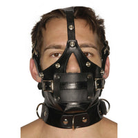 Strict Leather Premium Muzzle with Blindfold and Gags - Fun and Kinky Sex Toys