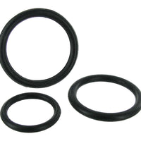 Black Triple Silicone Cock Ring Set - Fun and Kinky Sex Toys