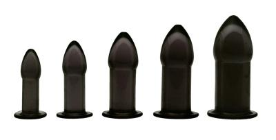 5 Piece Anal Trainer Set - Black - Fun and Kinky Sex Toys
