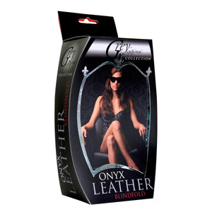 Onyx Leather Blindfold - Fun and Kinky Sex Toys