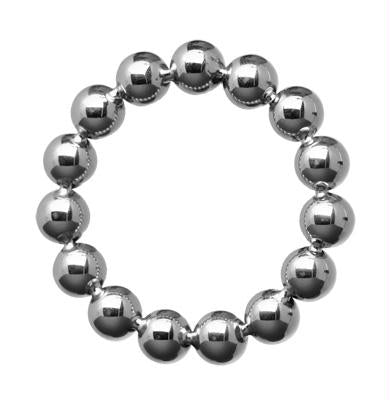 Meridian 1.75 Inch Stainless Steel Beaded Cock Ring - Fun and Kinky Sex Toys