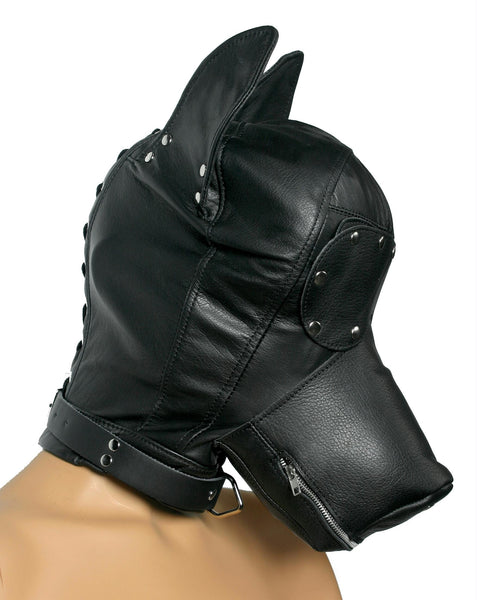 Ultimate Leather Dog Hood - Fun and Kinky Sex Toys