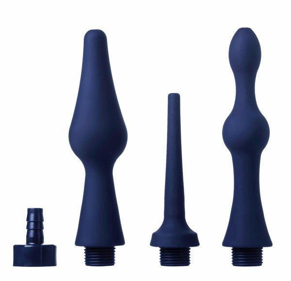 Universal 3 Piece Silicone Enema Attachment Set - Fun and Kinky Sex Toys